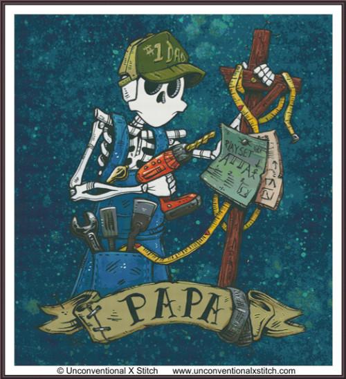Papa cross stitch pattern