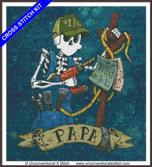 Papa cross stitch kit