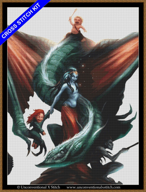 Family Dragon (extract edition) cross stitch kit