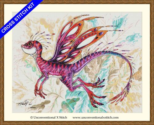 Pixie Dragon cross stitch kit