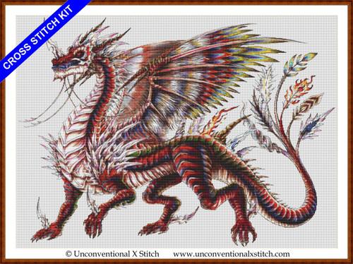 Neo Dragon cross stitch kit