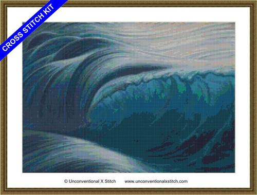 Breaking the Waves cross stitch kit