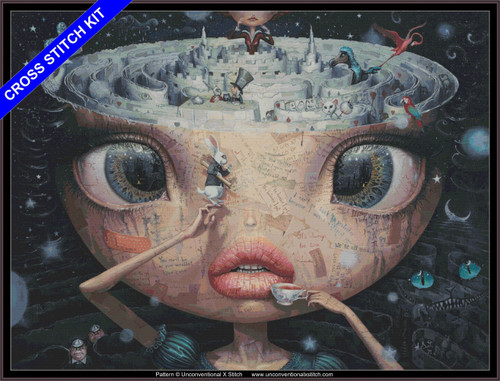 Alice in Wonderland (max edition)  cross stitch kit