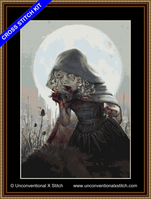 Color of the Wolf cross stitch kit