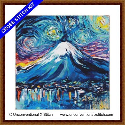 Van Gogh Never Saw Mount Fuji cross stitch kit