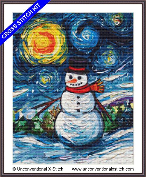 Frosty Night cross stitch kit
