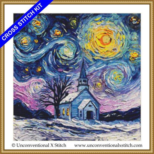 O Holy Night cross stitch kit