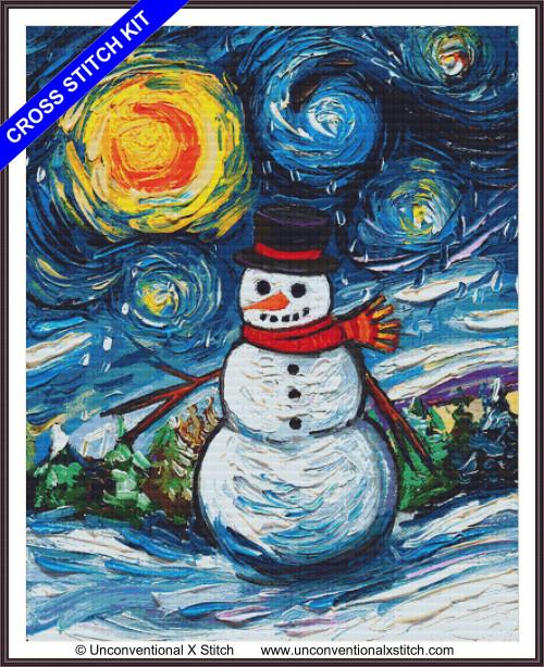 Frosty Night (XL edition) cross stitch kit