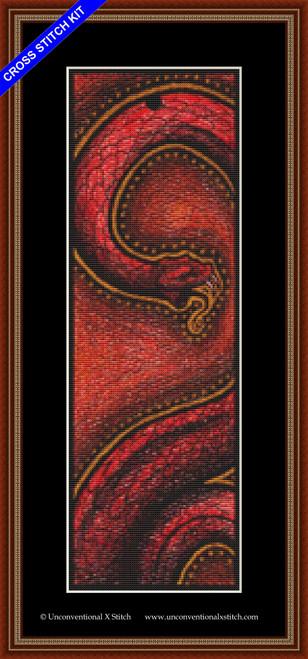 Tribal Snake cross stitch kit