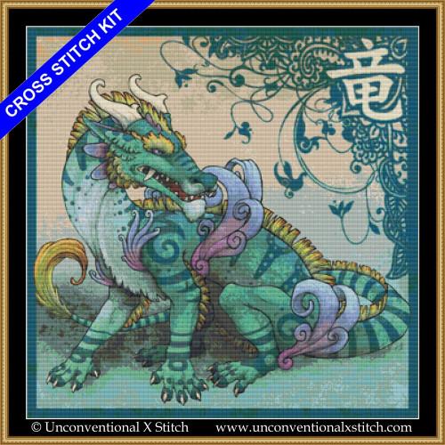 Draco Orientalis cross stitch kit