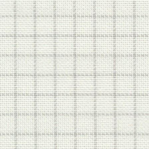 White 25 count easy count pre-gridded Lugana 65.5 x 65cm