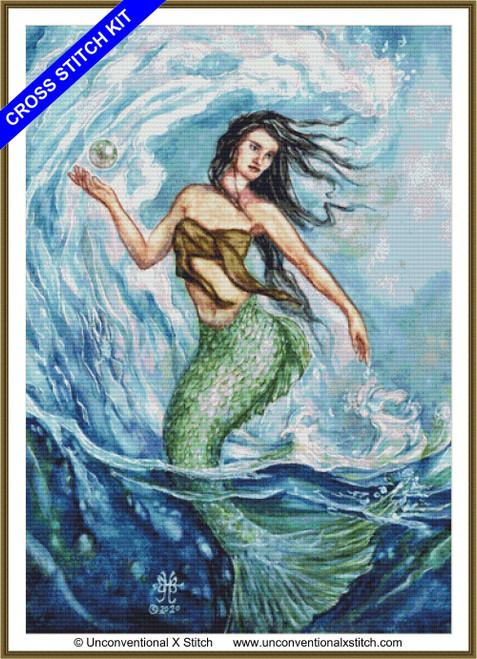 Water Mother Goddess cross stitch kit