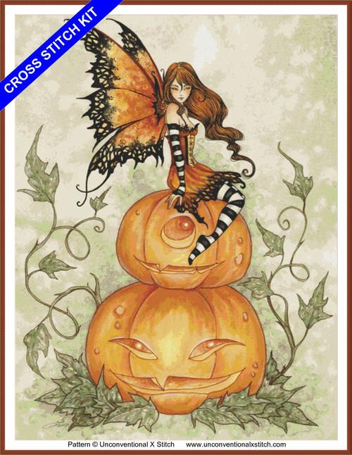 Halloween Fae cross stitch kit