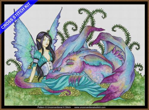 Let Sleeping Dragons Lie  cross stitch kit