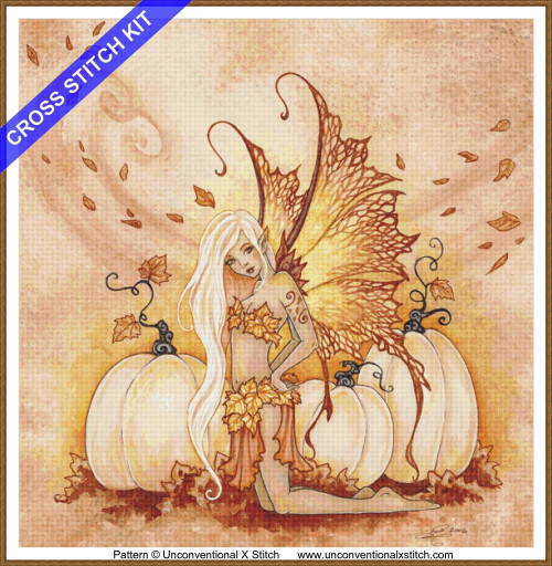 White Pumpkins cross stitch kit