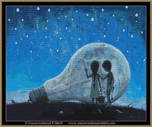 The Night we Broke the Moon cross stitch pattern