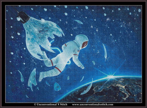 The Birth of the First Astronaut  cross stitch pattern