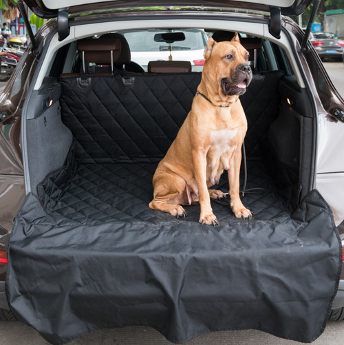 "SUV Pet Cargo Liner Trunk Cover Waterproof Non-Slip Washable Material, Extra Long Size Universal Fit with Bumper Flap 80"" x 52"""