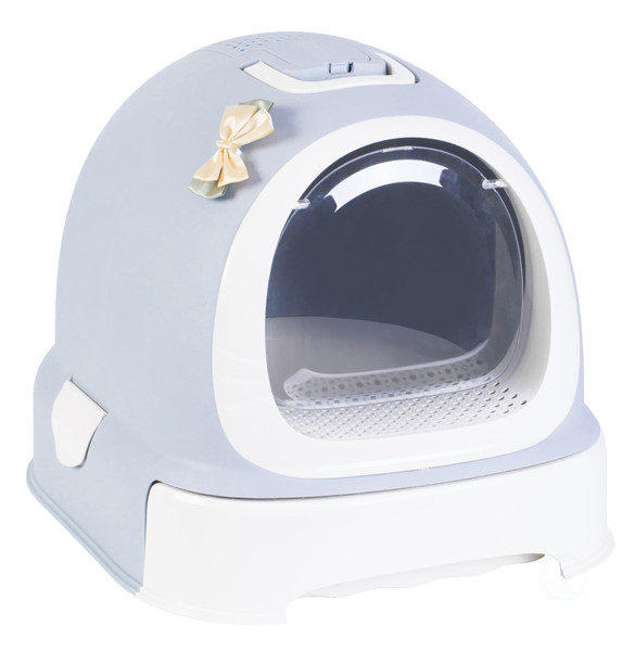 Fully Enclosed Hooded Litter Pan with Front Entry Odor Close Door, Cat Litter Scoop Included