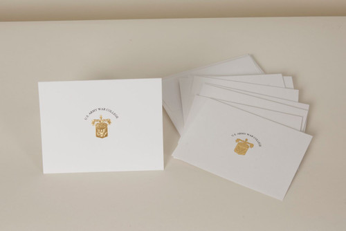 Gold Crest Notecards