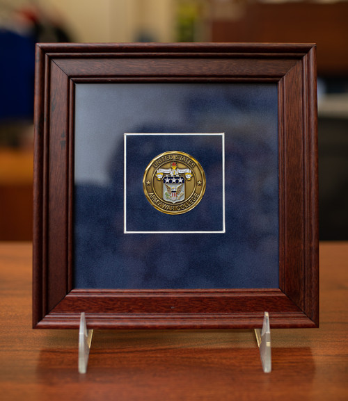 Framed Army War College Coin
