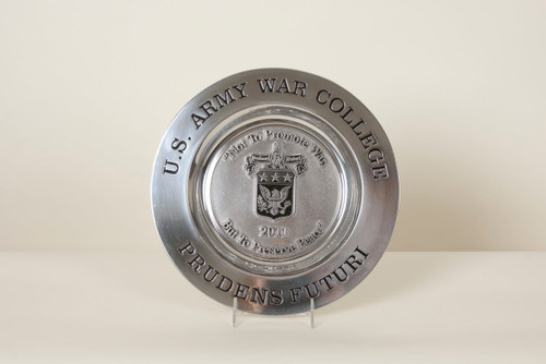 U.S. Army War College Pewter Plate