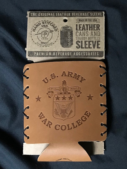 USAWC Leather Can Holder