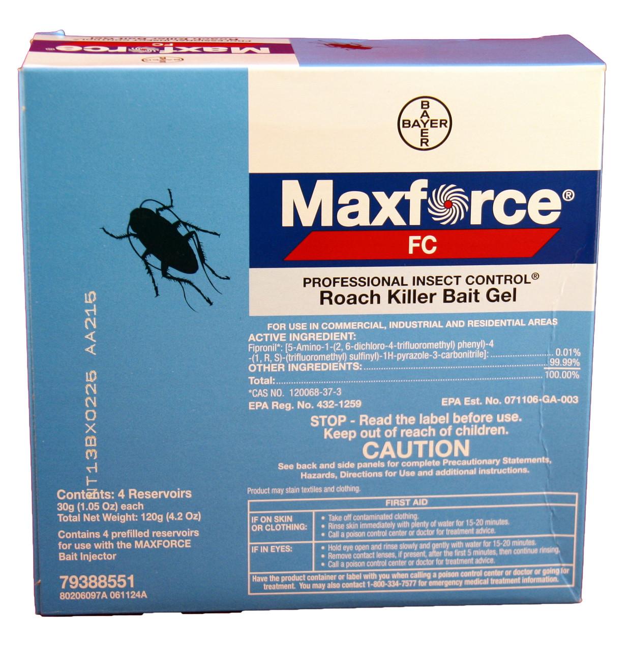 Maxforce FC Cockroach Bait Gel with fipronil 4 x 30 gram tubes