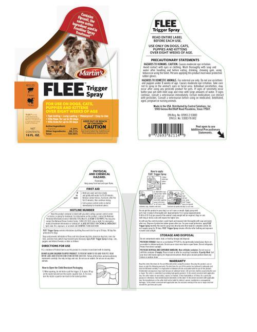 Flee Trigger Spray Plus Kills Fleas Ticks w/ Fipronil 16 Ounces for Dogs & Cats