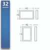 "Baseline Wall - Surface Mount 32"" - 75"""