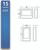"""Baseline Wall - Surface Mount - Meeting Room 10""""- 24"""""""