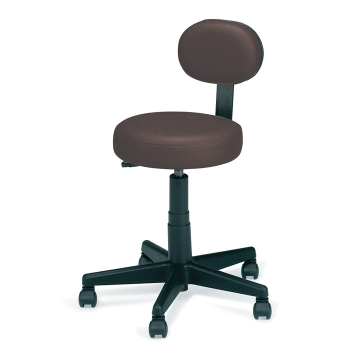 ROLLING STOOL WITH BACK