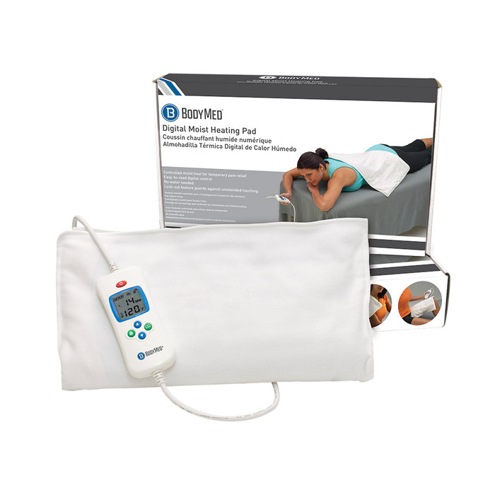 "BODYMED DIGITAL MOIST HEATING PAD, 14"" x 7"""
