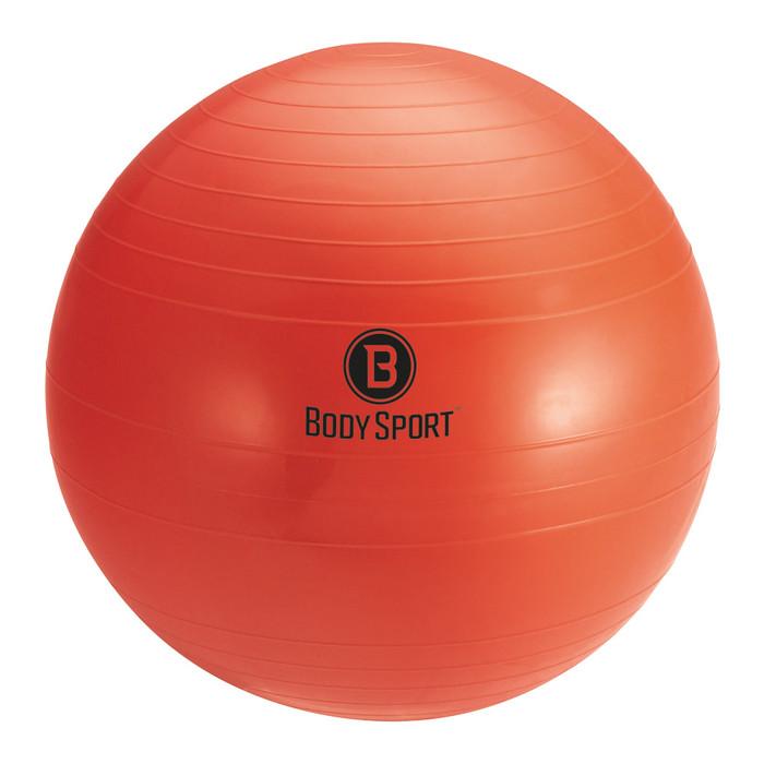 """BODY SPORT 75 CM (BODY HEIGHT 6'2"""" - 6'8"""") ANTI-BURST FITNESS BALL (EXERCISE BALL), RED"""