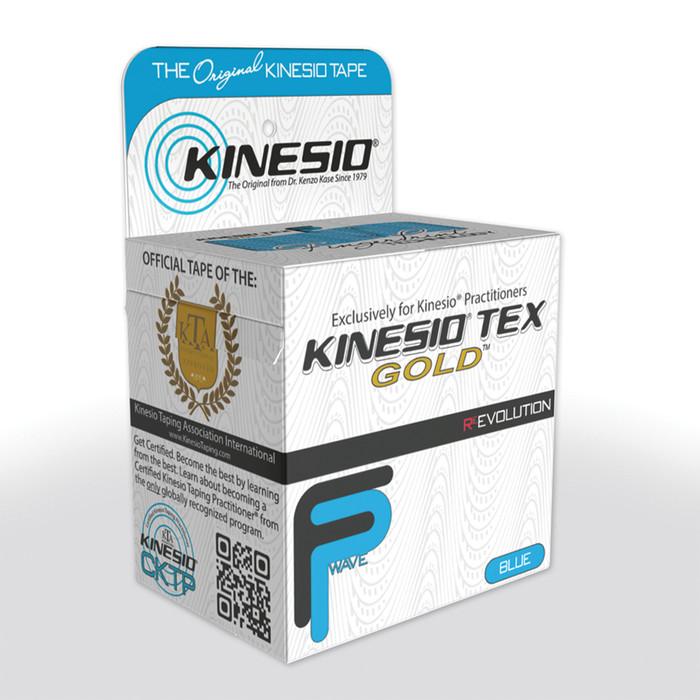 "KINESIO TAPE TEX GOLD FP, 2"" X 16.4', BLUE"