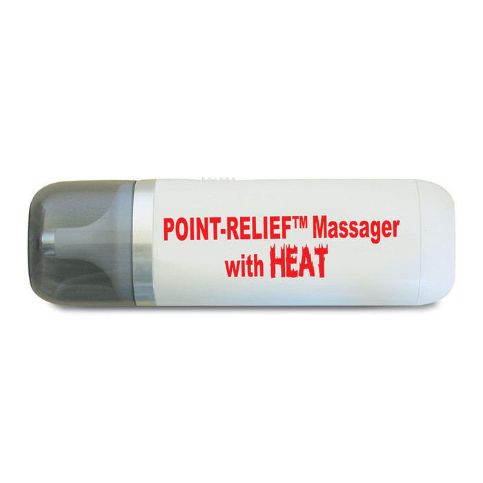MINI-MASSAGER WITH HEAT AND ACCESSORIES