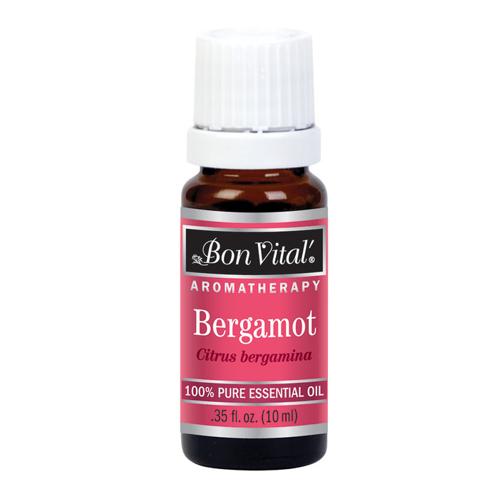 BON VITAL BERGAMOT ESSENTIAL OIL, 10 ML/.35 FL OZ. BOTTLE