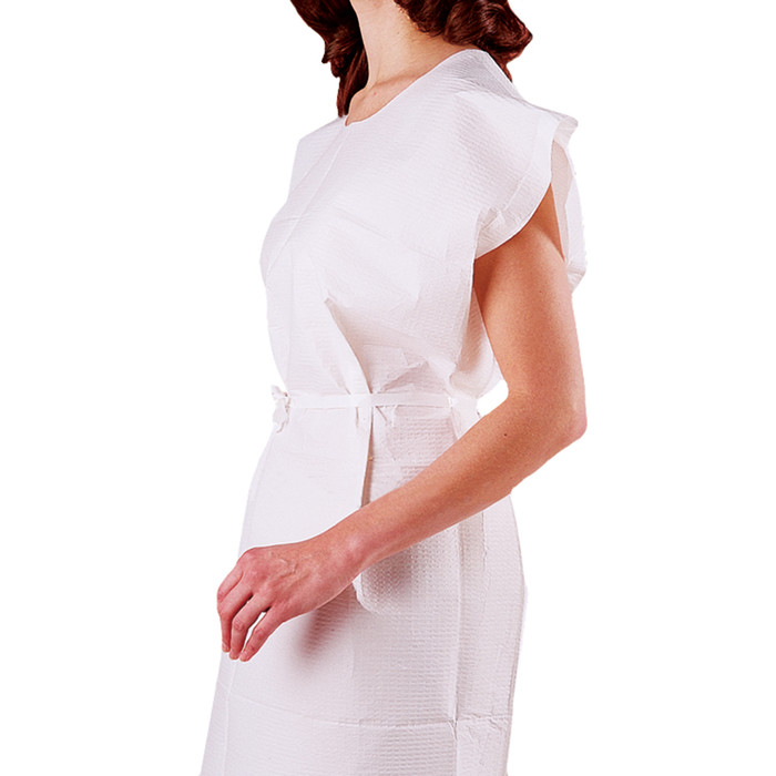 "DISPOSABLE GOWNS, WHITE, 30"" X 42"", 50/CASE"