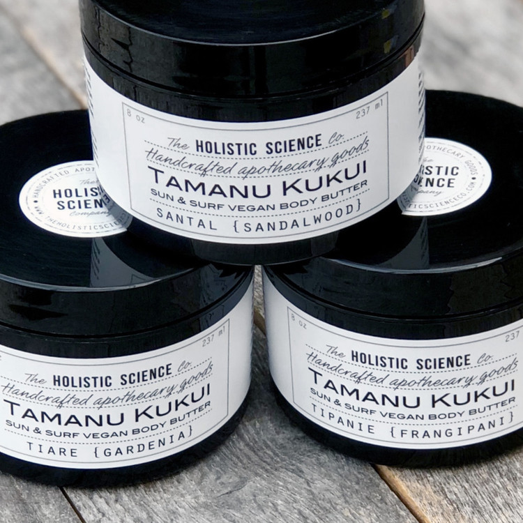 Tamanu Kukui Body Butter (Santal :: Sandalwood), 8oz