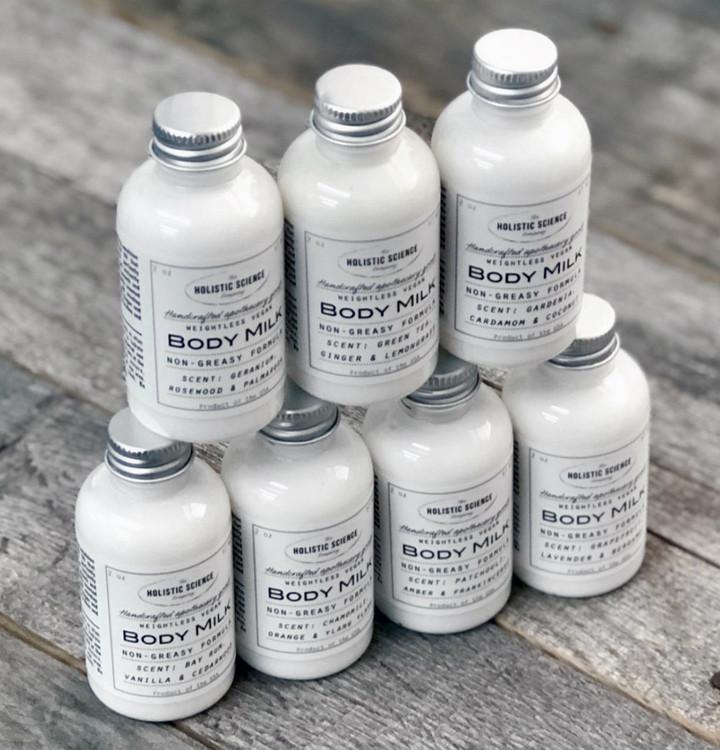 Vegan Body Milk – Geranium, Rosewood & Palmarosa 2oz