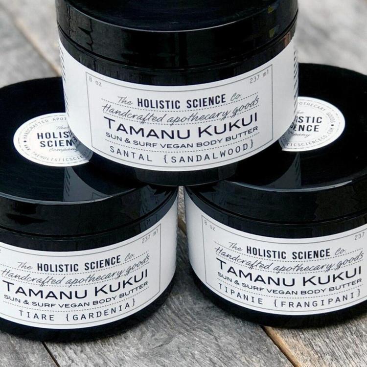 Tamanu Kukui Body Butter (Unscented), 8oz