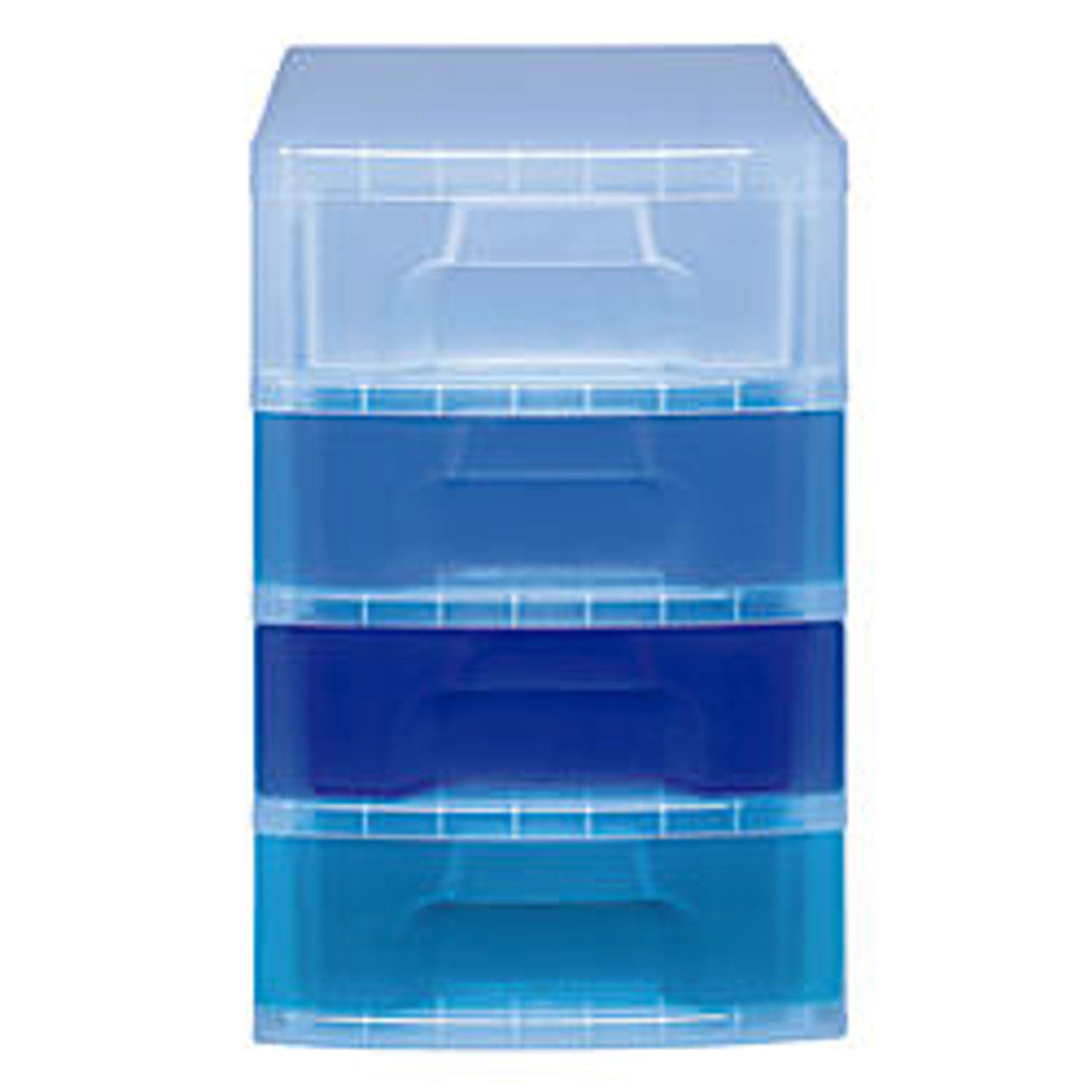 Really Useful Box Tower Drawer 4 Drawers 7 Liters 18 Inch H X 15 3 4 Inch W X 12 Inch D Clear Blue Office Wagon