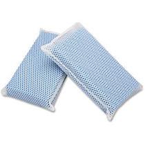SKILCRAFT; All-Purpose Mesh Scrubbers, 5 inch;H x 3 1/2 inch;W x 1 1/4 inch;D, Blue, Box Of 24 (AbilityOne 7920-01-626-4444)