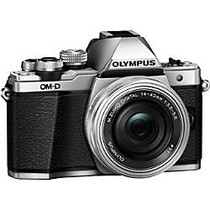 Olympus OM-D E-M10 Mark II 16.1 Megapixel Mirrorless Camera with Lens - 14 mm - 42 mm - Silver
