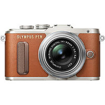 Olympus PEN E-PL8 16.1 Megapixel Mirrorless Camera with Lens - 14 mm - 42 mm - Brown
