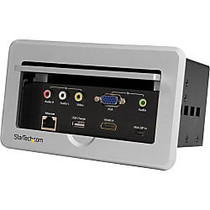 StarTech.com Conference Table Connectivity Box - HDMI / VGA / Mini DisplayPort to HDMI Output with Fast Charge USB Port