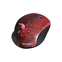 Verbatim; Wireless Optical Mouse, Red