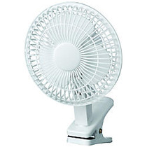 Royal Sovereign 6 inch; Clip-On Fan, 7 5/16 inch;H x 7 5/8 inch;W x 11 13/16 inch;D, White