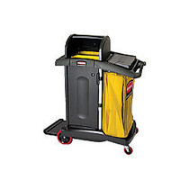 Rubbermaid; High-Security Healthcare Cleaning Cart, 53 1/2 inch;H x 22 inch;W x 48 1/4 inch;D, Black