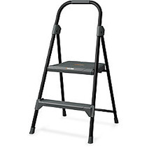 Louisville Davidson Ladders 2' Steel Domestic Step Stool - 2 Step - 225 lb Load Capacity - 24 inch; - Gray